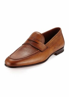 Magnanni Pebbled Leather Penny Loafer