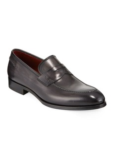 Magnanni for Neiman Marcus Smooth Leather Penny Loafer