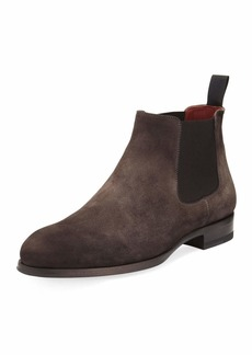 Magnanni Suede Low Gored Chelsea Boot