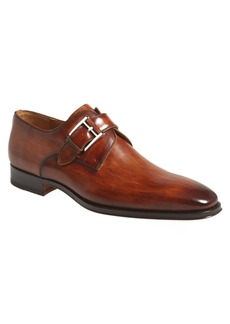Magnanni Marco Plain Toe Monk Strap Shoe (Men)
