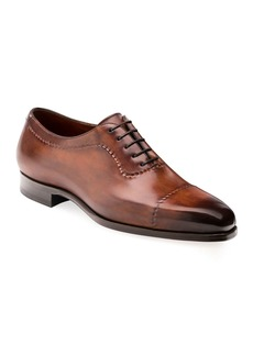 Magnanni Men's Camilo Wind-Seamed Leather Dress Shoes