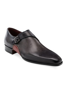 Magnanni Men's Carrera Single-Monk Leather Shoes