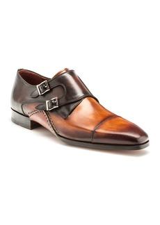 Magnanni Men's Ondara Double-Monk Two-Tone Leather Shoes