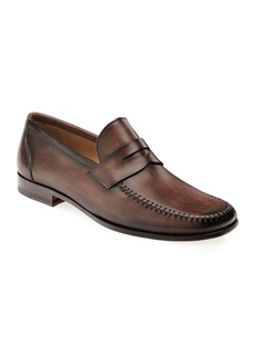 Magnanni Men's Ramos Leather Penny Loafers  Brown