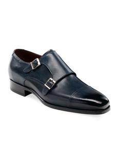 Magnanni Men's Wooster Double-Monk Leather Shoes