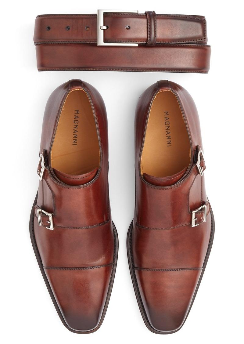 Magnanni Monk Strap Shoe & Belt