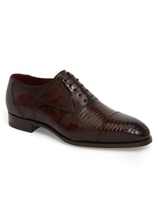 Magnanni Palmiro Lizard Leather Cap Toe Derby (Men)
