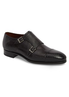 Magnanni Pavo Lizard Leather Monk Shoe (Men)