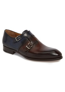 Magnanni Rooney Two-Tone Double Buckle Monk Shoe (Men)