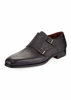 Magnanni Textured Double-Monk Loafer