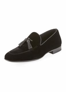 Magnanni Velvet Tassel Loafer