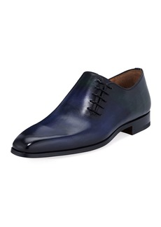 Magnanni Men's Almeria Leather Off-Center Lace-Up Dress Shoes