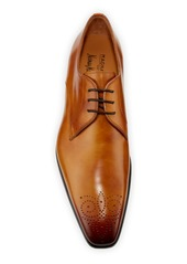 Magnanni Men's Antiqued Leather Lace-Up Oxfords