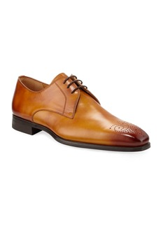 Magnanni Men's Antiqued Leather Lace-Up Oxfords