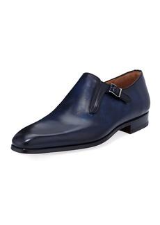 Magnanni Men's Beltran Leather Single-Monk Dress Shoes