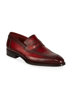 Magnanni Men's Bol Wind Leather Penny Loafers