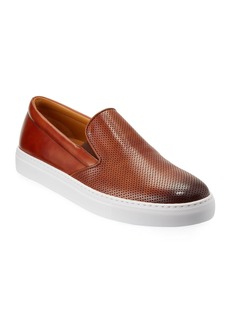 Magnanni Men's Boltan Perforated Low-Top Slip-On Sneakers