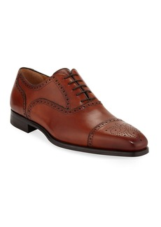 Magnanni Men's Brogued Leather Lace-Up Oxfords