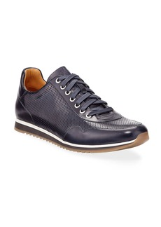 Magnanni Men's Buterlight Leather Sneakers  Navy
