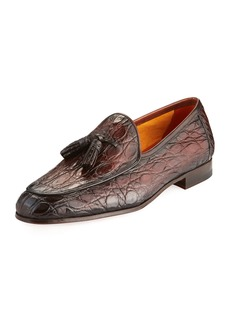 Magnanni Men's Claudio Crocodile & Leather Slip-On