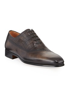 Magnanni Men's Embossed Lace-Up Dress Shoes