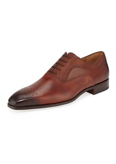 Magnanni Men's Guadiana Leather Lace-Up Oxfords