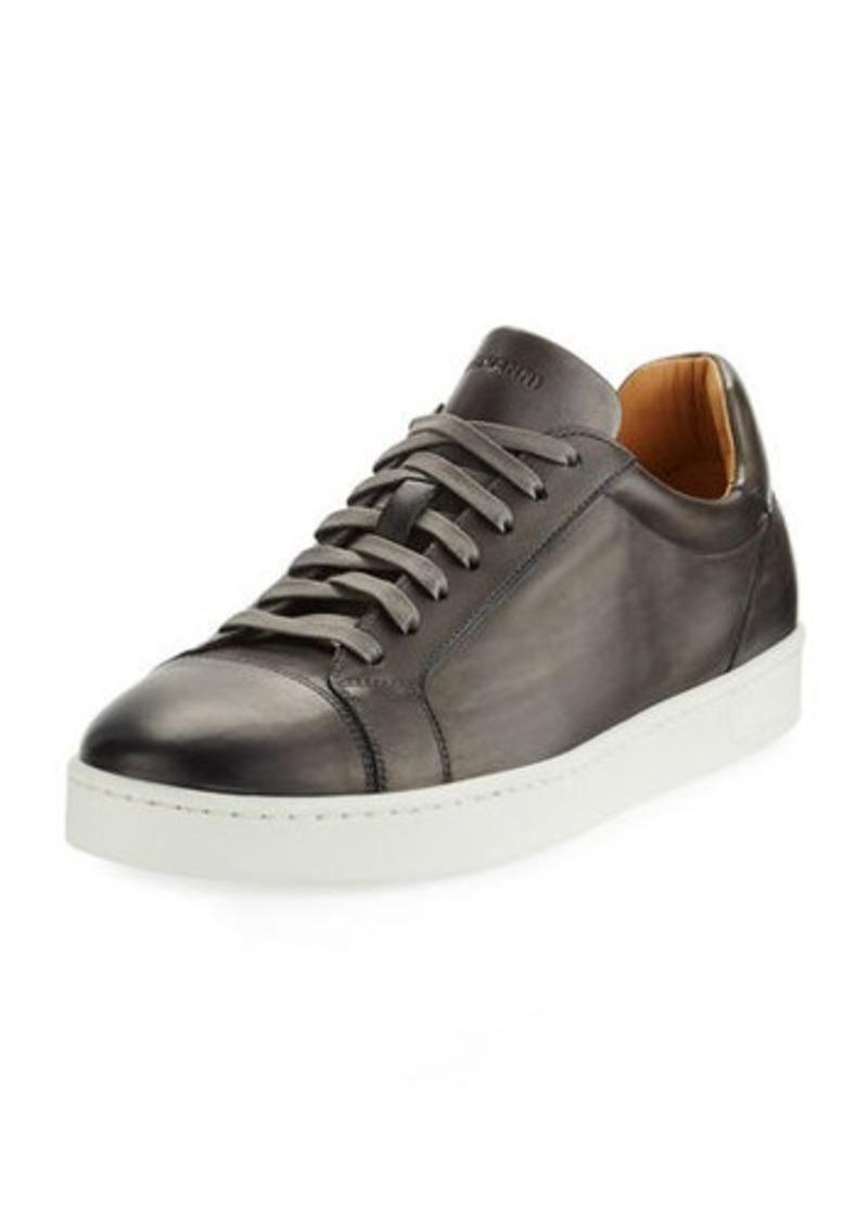 Magnanni Men's Hand Antiqued Distressed Calf Sneakers