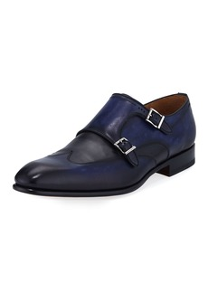 Magnanni Men's Ian Calf Leather Double-Monk Shoes