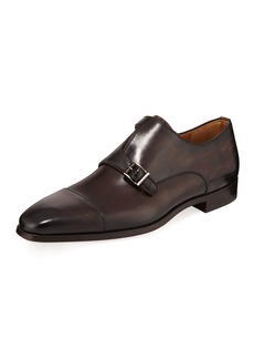 Magnanni Men's Jaime Calf Leather Cross-Monk Dress Shoes
