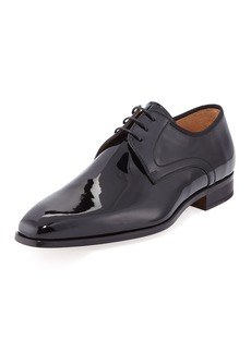 Magnanni Men's Patent Leather Lace-Up Dress Shoes