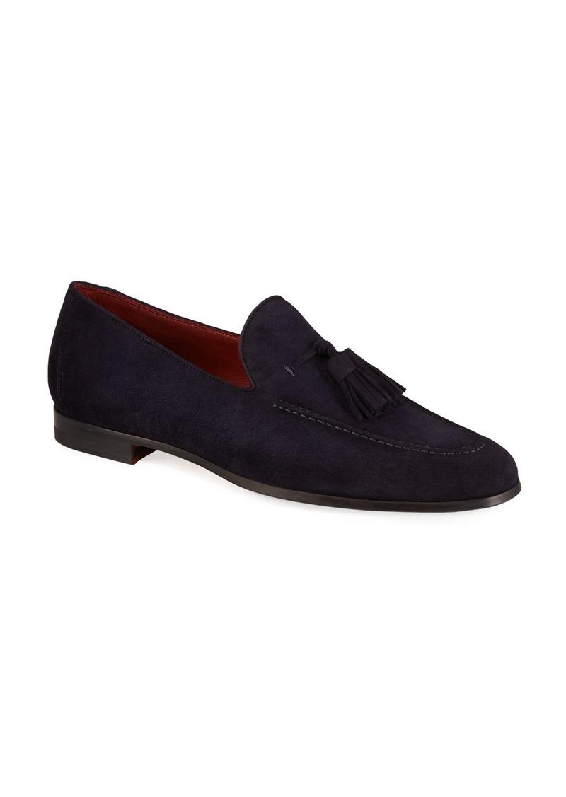 Magnanni Men's Suede Tassel Loafers
