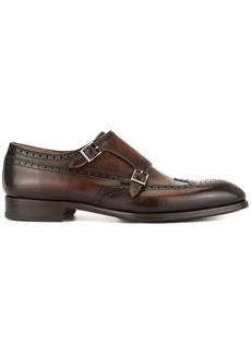 Magnanni perforated monk shoes