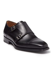 Magnanni Silvio Leather Double Monk Strap Loafer