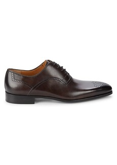 Magnanni Square-Toe Leather Oxfords