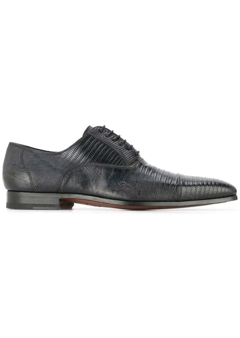 Magnanni textured lace-up shoes