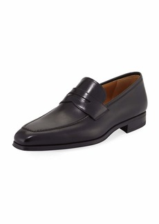 Magnanni Walden Leather Slip-On Loafer  Black