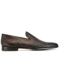 Magnanni woven leather low heel loafers