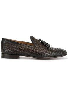 Magnanni woven tassel loafers