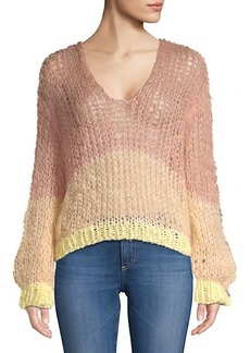 Maiami Stripe Mohair Blend Sweater
