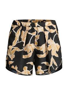 Maison du soir Firenze Floral Silk Shorts