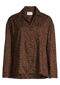 Maison du soir Hendricks Animal Print Pajama Top