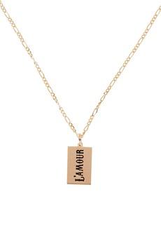 Maison Irem L'Amour Tag Pendant Necklace