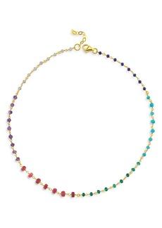 "Maison Irem 18K Gold-Plated Bead Spectrum Necklace, 16.5""-18"""