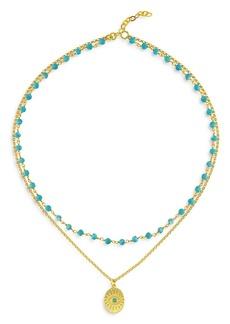 "Maison Irem Hawaii Dream Layered Bead & Pendant Necklace, 15"""