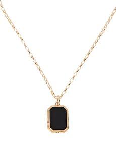 Maison Irem Onyx Cable Chain Pendant Necklace
