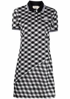 Maison Kitsuné diagonal-check polo dress