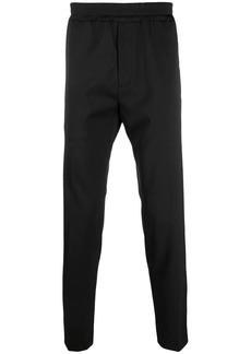 Maison Kitsuné elasticated-waist cotton trousers