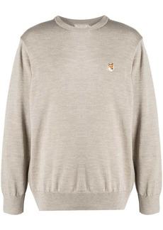 Maison Kitsuné embroidered fox logo sweatshirt