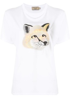 Maison Kitsuné embroidered fox T-shirt