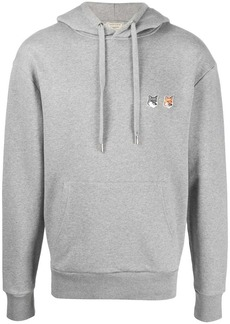 Maison Kitsuné Fox logo-patch hoodie
